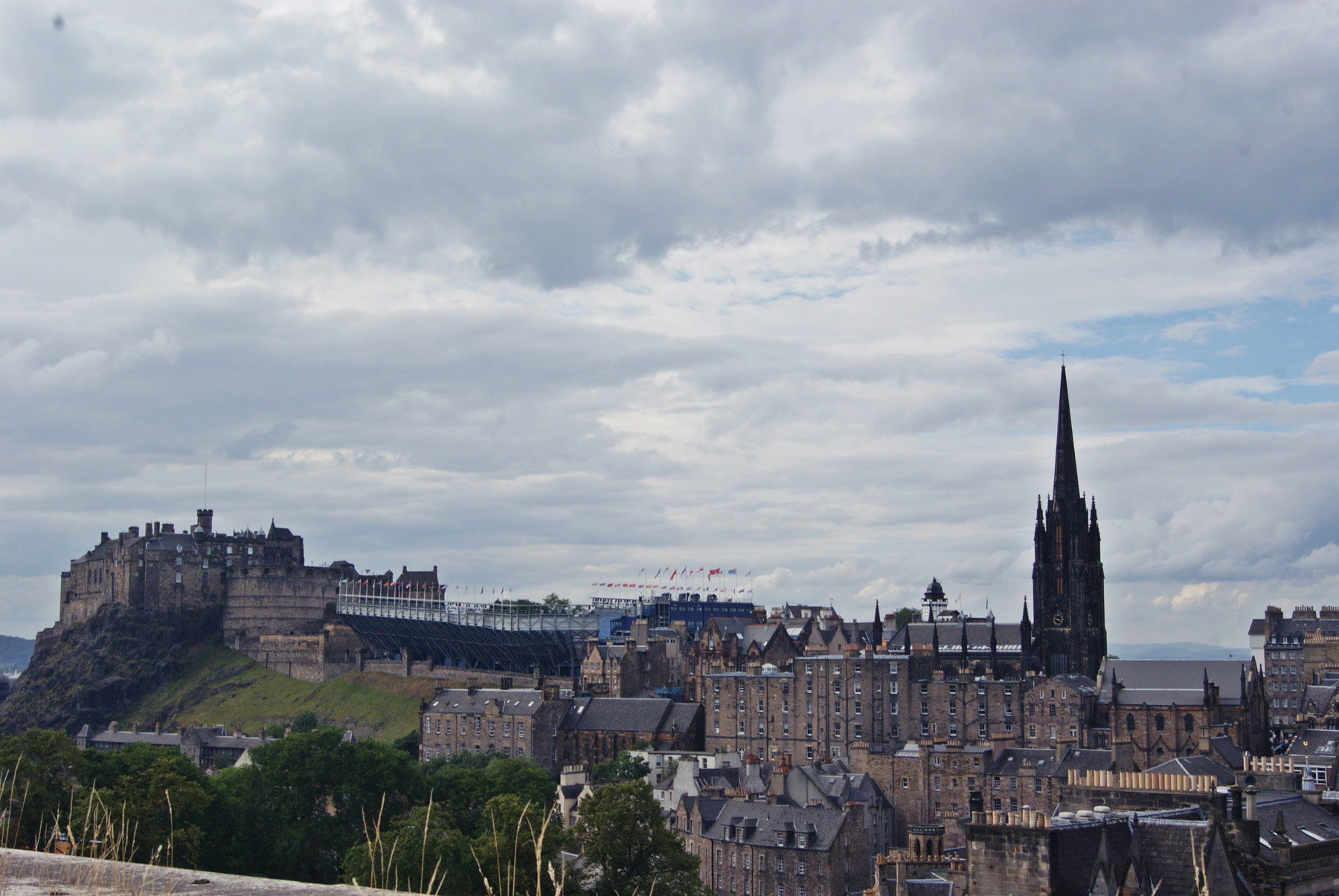 photo Ecosse Edimbourg ville La roof Terrace du Museum of Scotland